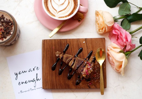 Cake slice coffee rose